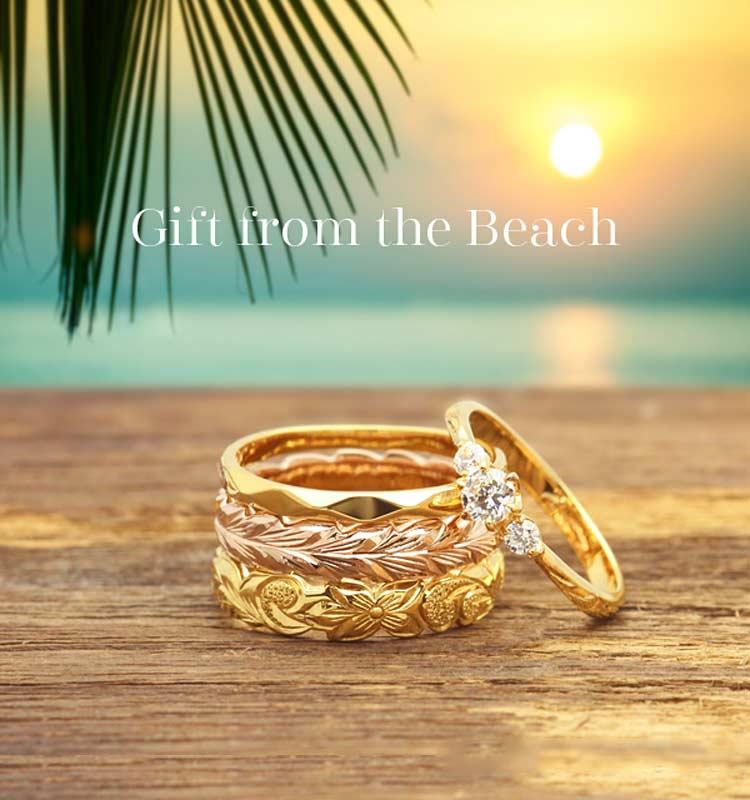 ハワイアンジュエリー「private beach-プライベートビーチ」なら山口県下松市ブライダルジュエリーフジタ